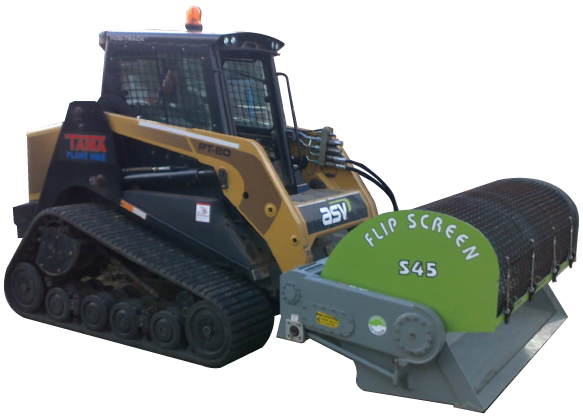 S45 Backhoe Screening Bucket