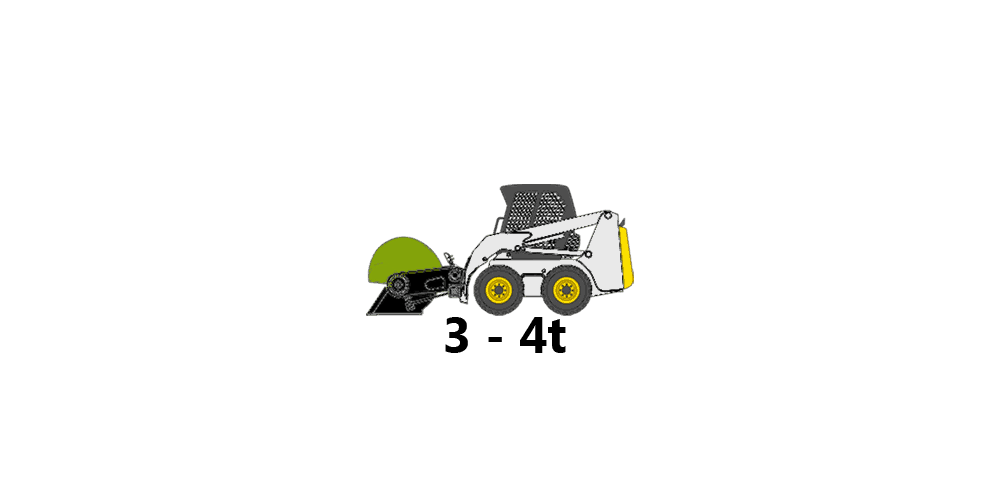 skid-steer, 3 to 4 tons