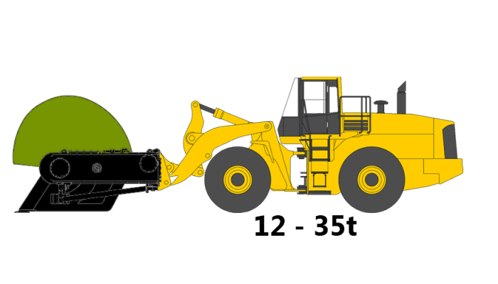 Wheel loader, 12 to 25 tons