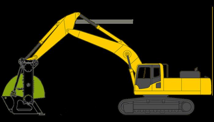 Excavator screening bucket, 36 - 60 tons