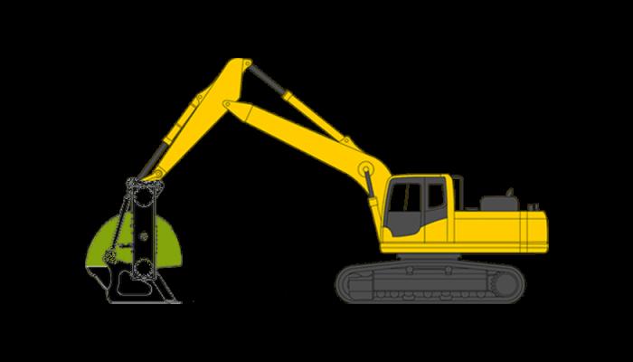 Excavator screening bucket, 26 - 35 tons