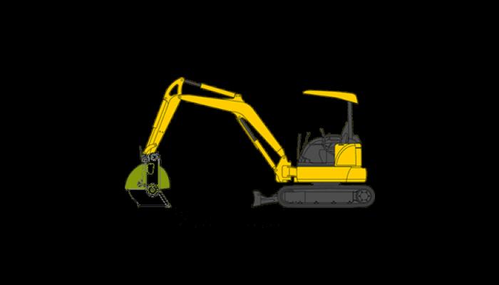 Mini Excavator Buckets, 2.5 - 5.5 tons