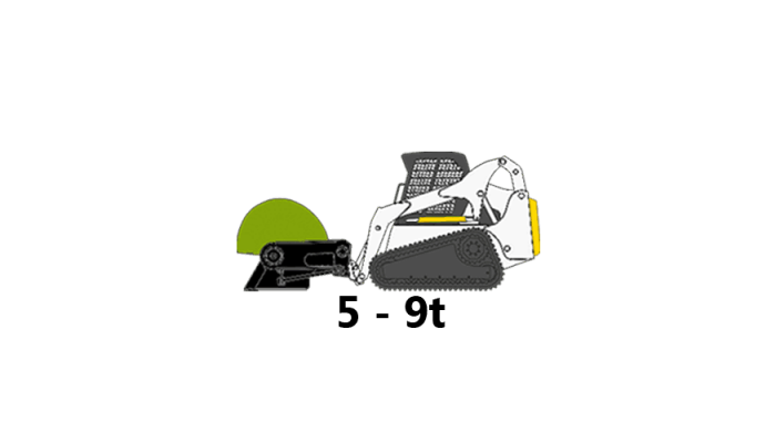 skid-steer, 5 to 9 tons
